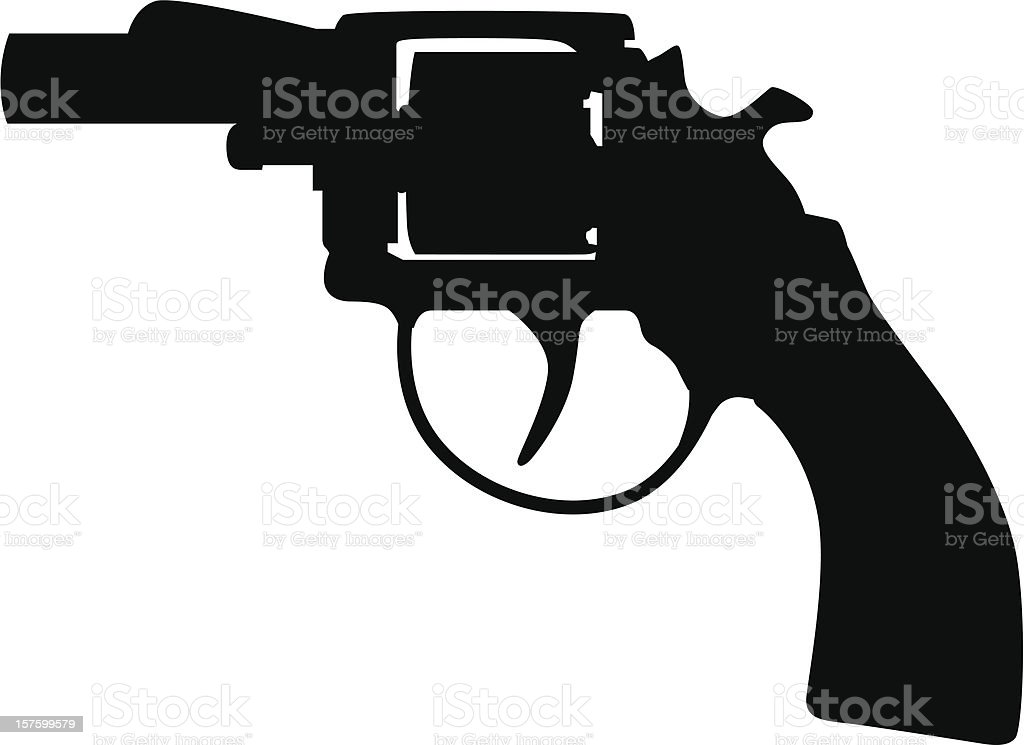 Pistol Silhouette royalty-free stock vector art