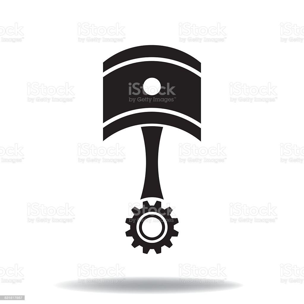 Piston icon vector art illustration