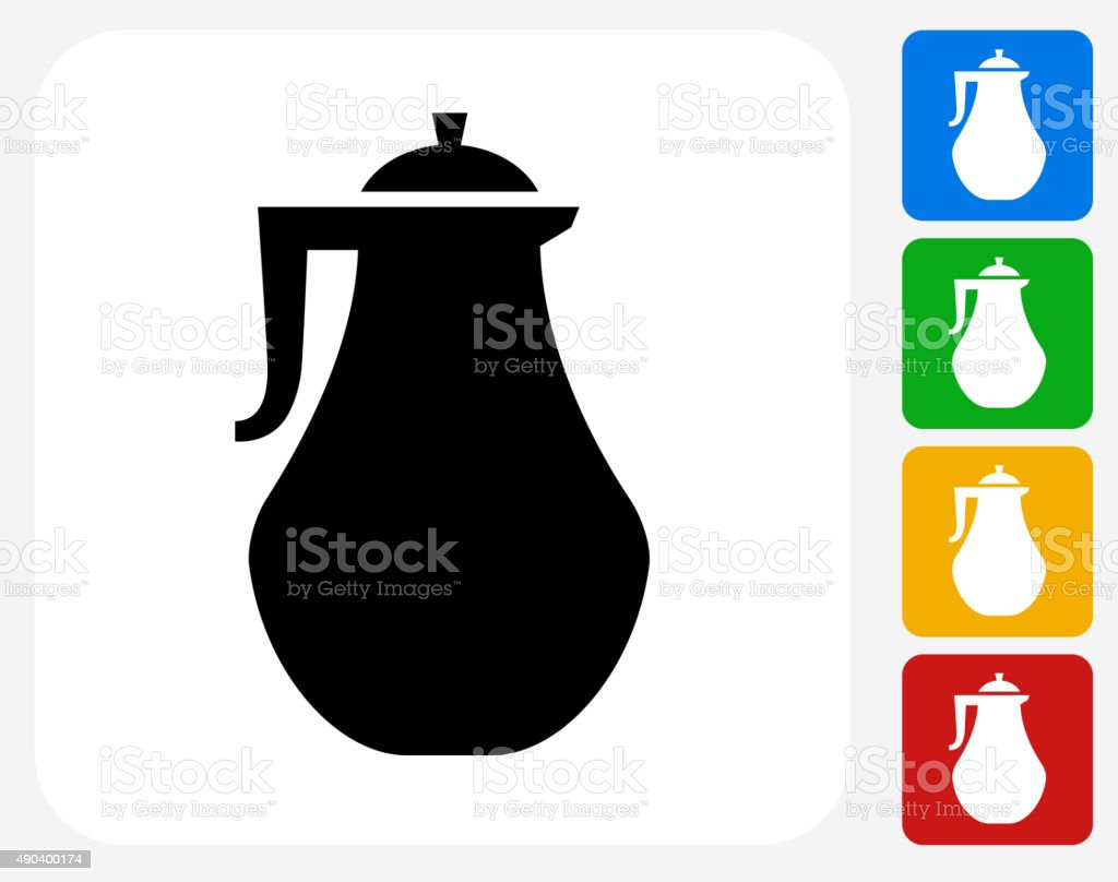 Pitcher Icon Flat Graphic Design vector art illustration
