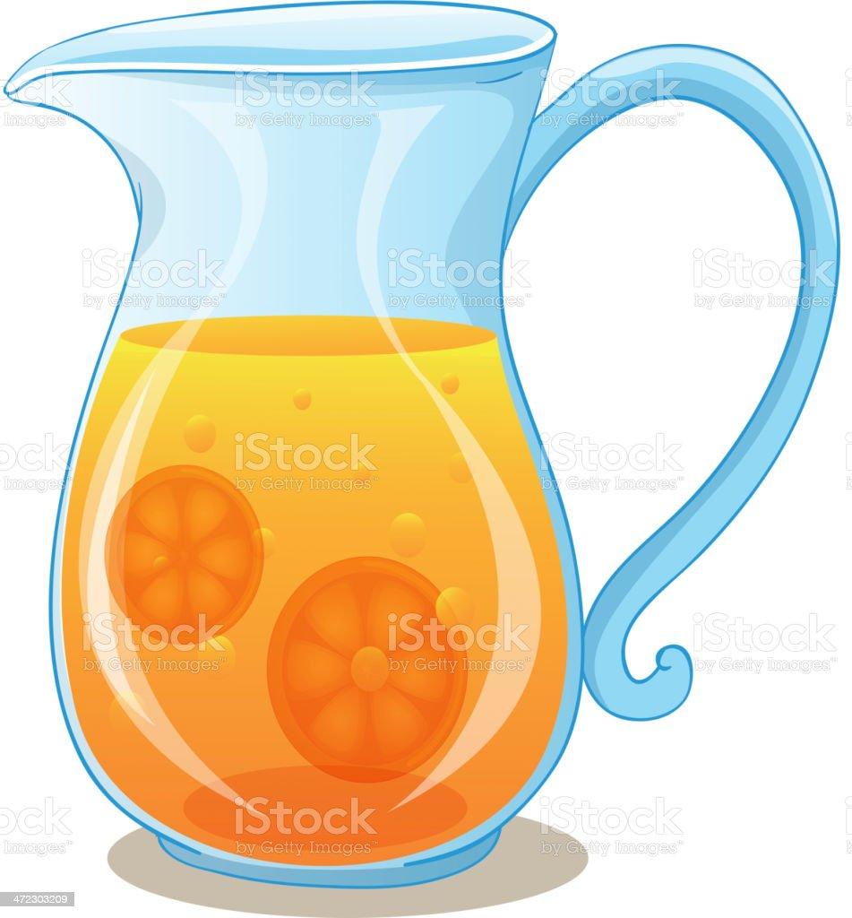 Pitcher of orange juice royalty-free stock vector art