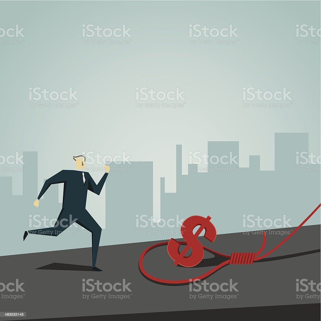 pitfall vector art illustration