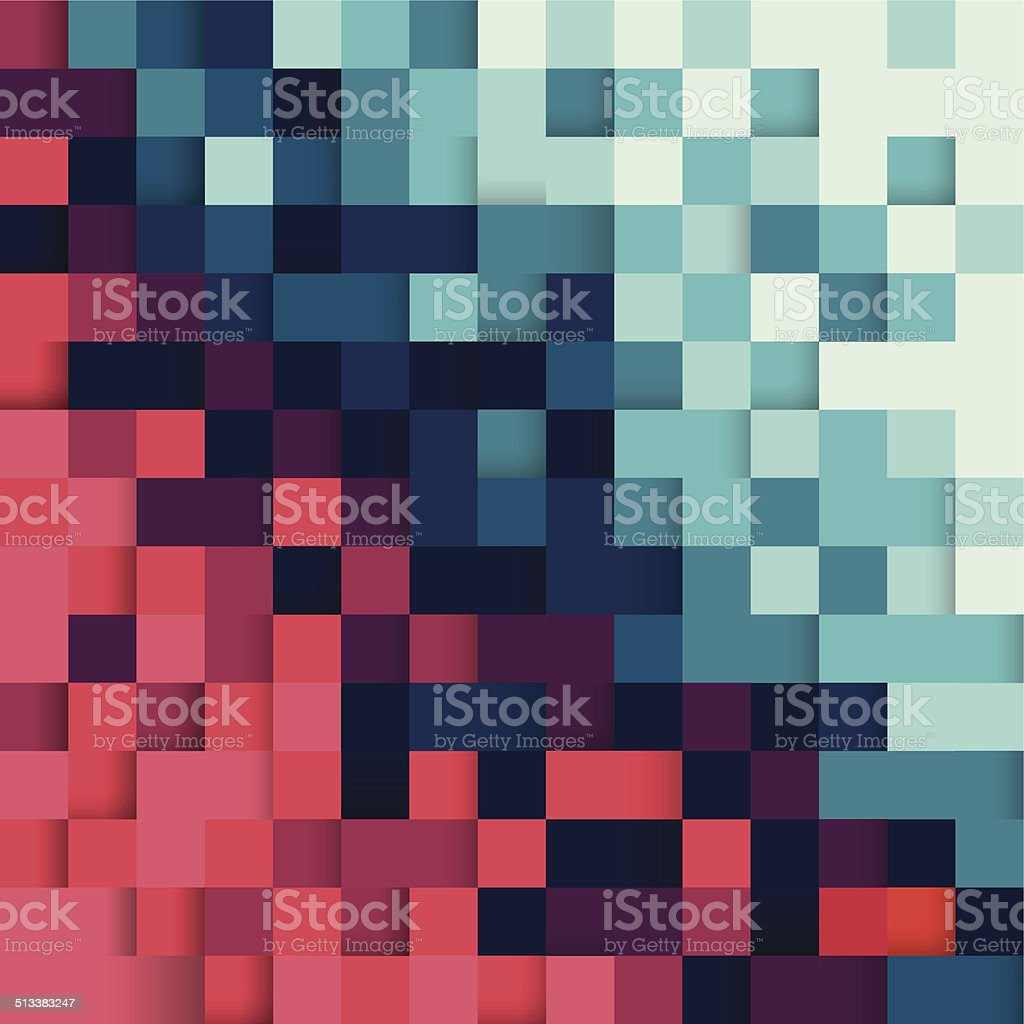 Pixel abstract background vector art illustration