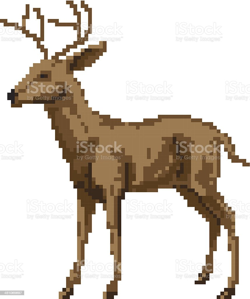 pixel art deer illustration stock vecteur libres de droits 451065697 istock. Black Bedroom Furniture Sets. Home Design Ideas