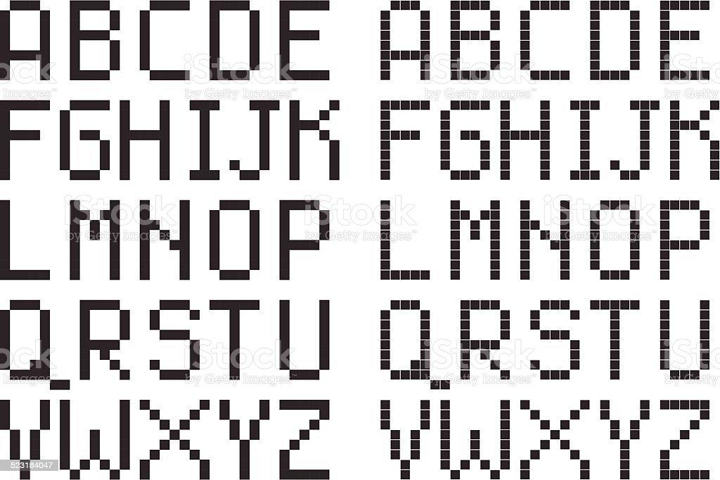 pixel art lettre