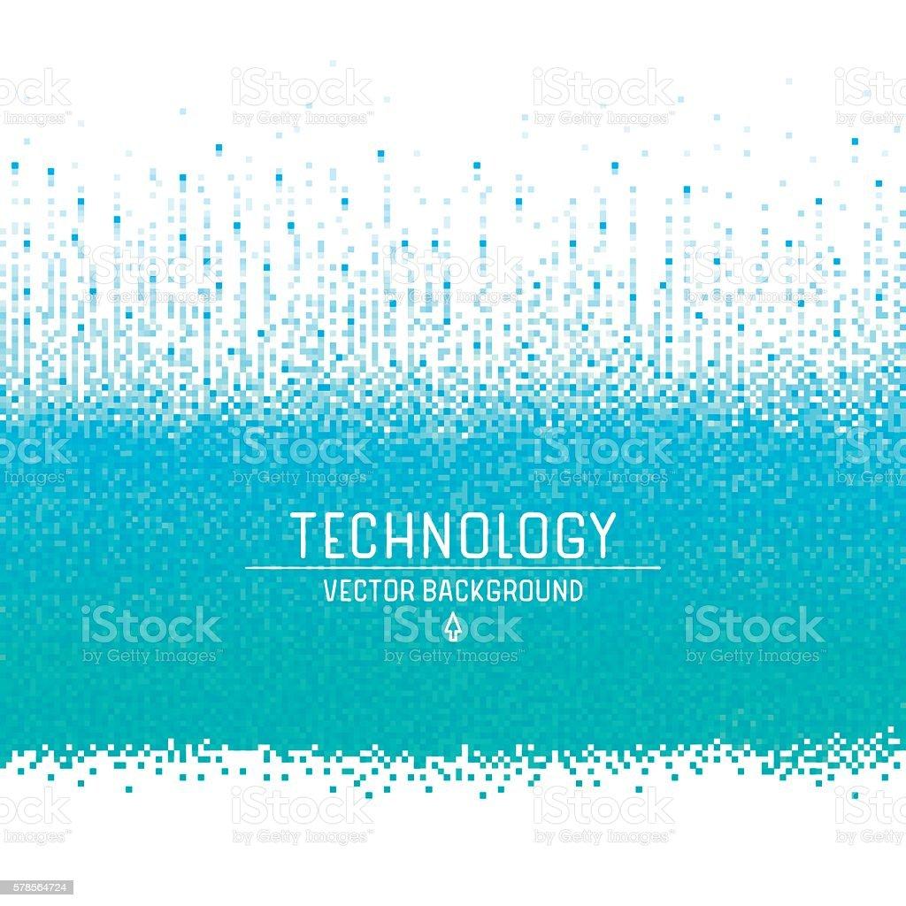 Pixel background vector art illustration
