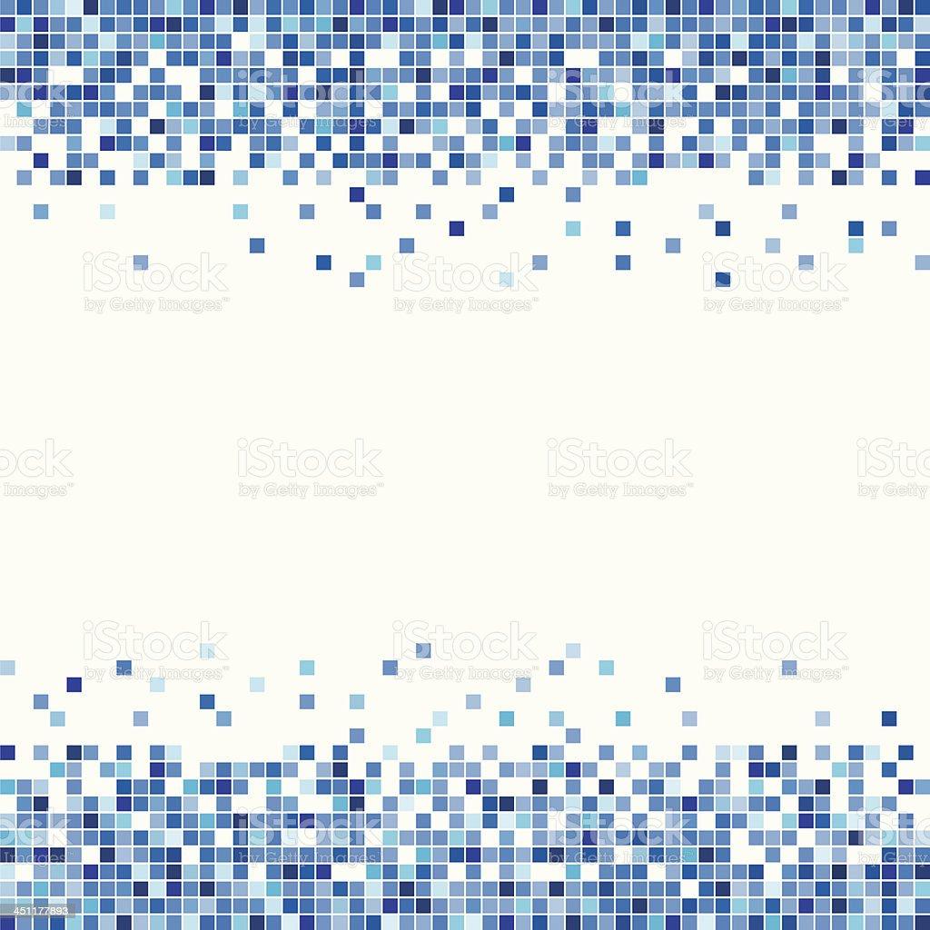 Pixel in Blue vector art illustration