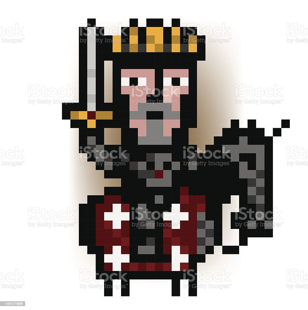 pixel king from the red army royalty-free stock vector art