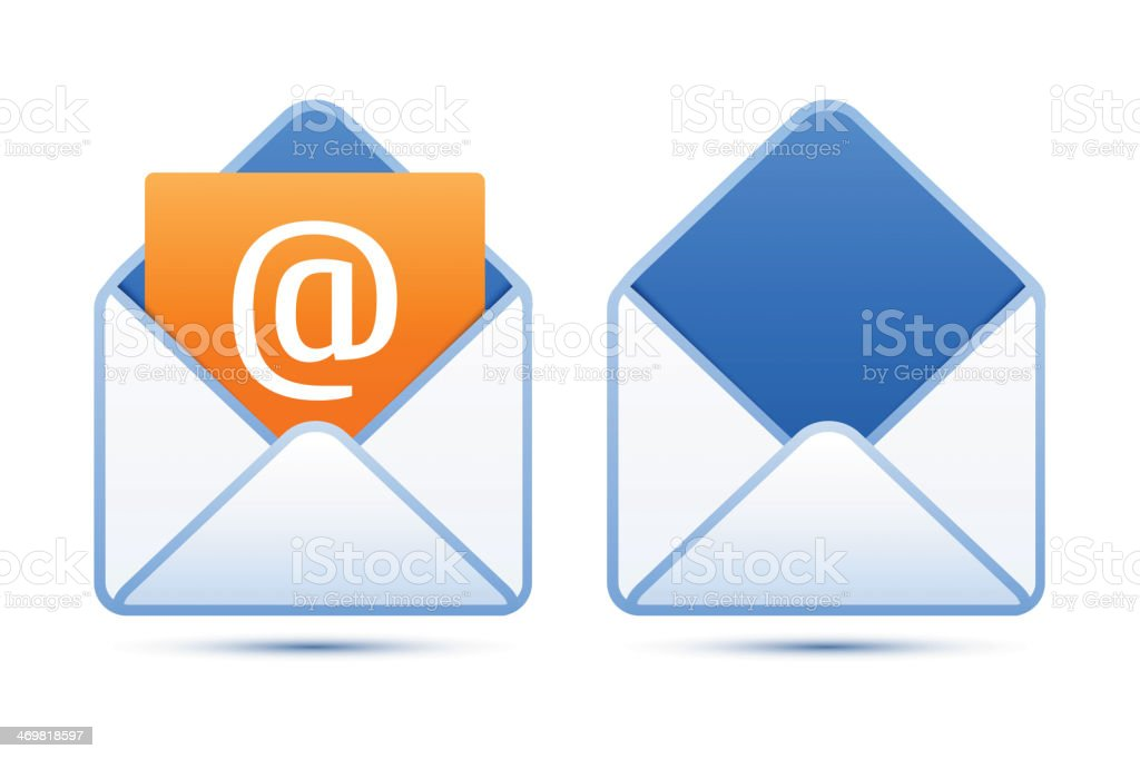 Pixel perfect email icons royalty-free stock vector art