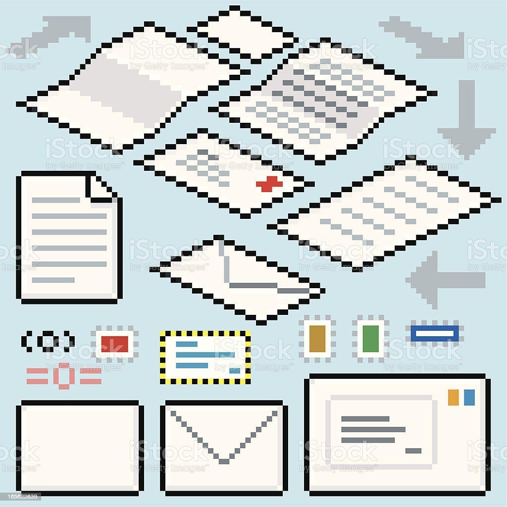 Pixel Post Flow royalty-free stock vector art
