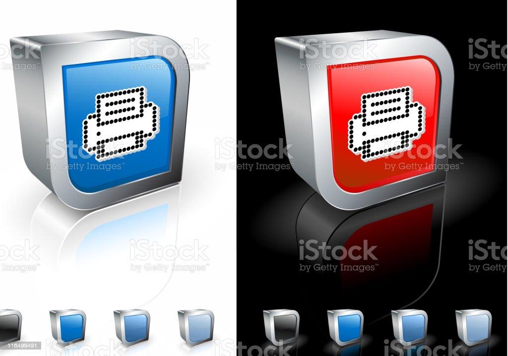 pixel printer square royalty free vector art royalty-free stock vector art