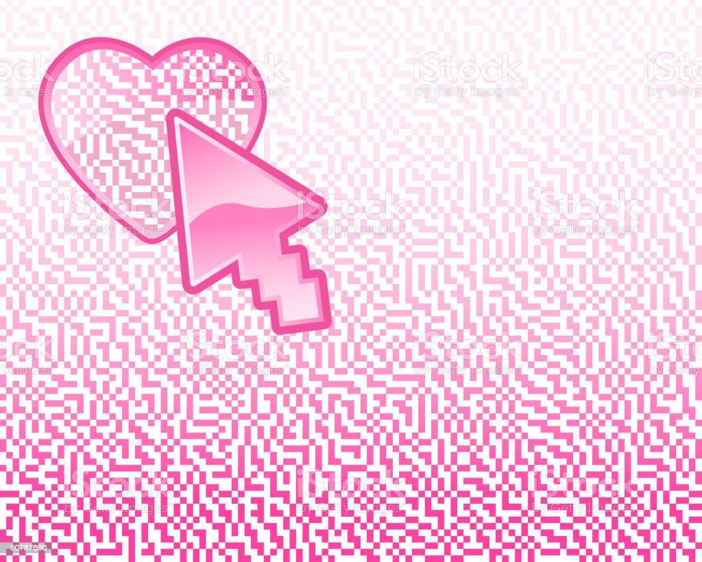 Pixel Series - Heart royalty-free stock vector art