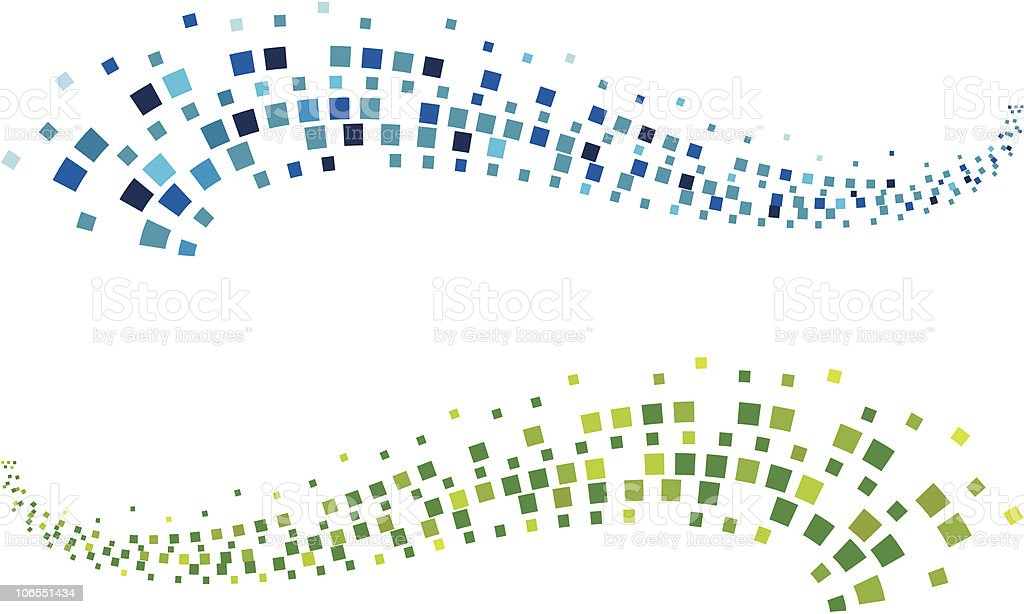 Pixel wave vector art illustration