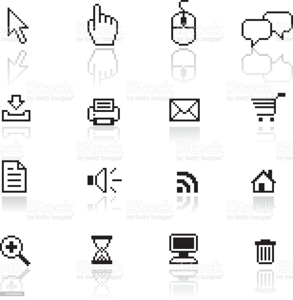 Pixel-accurate computer and technology royalty free vector arts royalty-free stock vector art