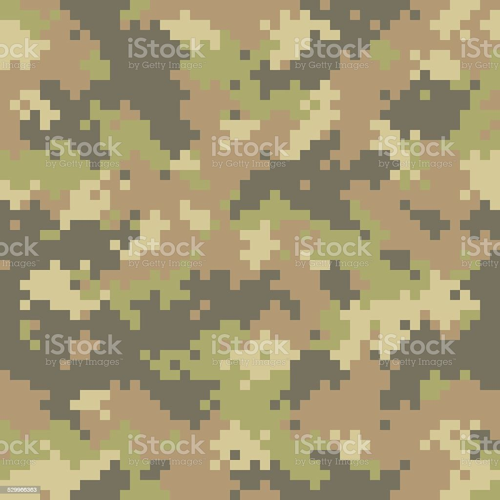 Pixelated camouflage seamless vector art illustration
