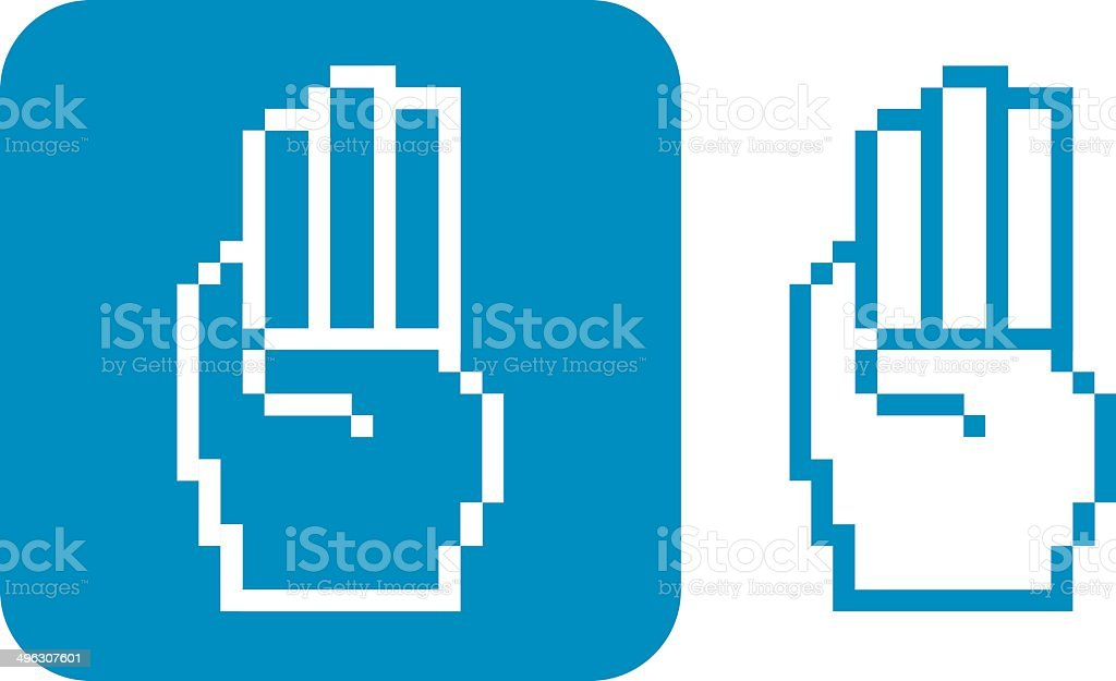 Pixelated Hand Icons be Prepared royalty-free stock vector art