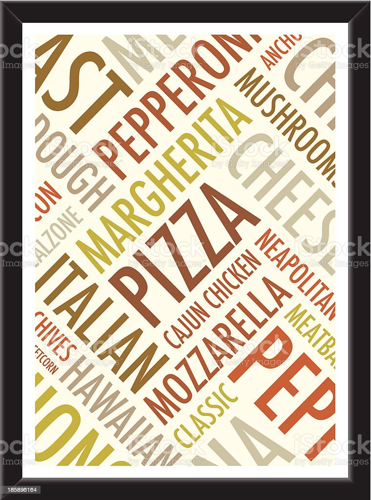 pizza background royalty-free stock vector art