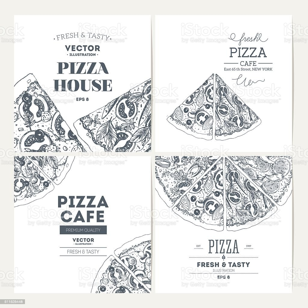 Pizza banner design template. Banner collection. Vector illustration vector art illustration