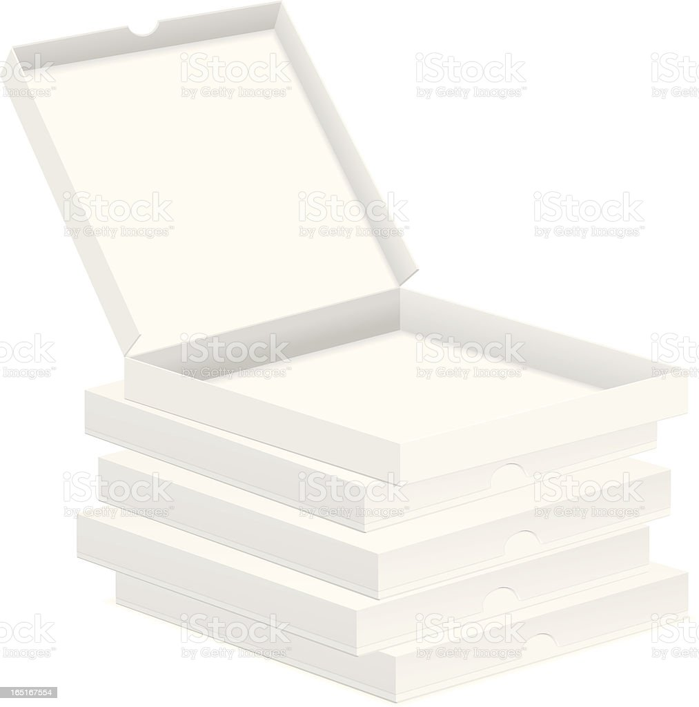 pizza boxes royalty-free stock vector art
