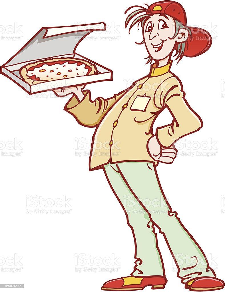 Pizza boy royalty-free stock vector art