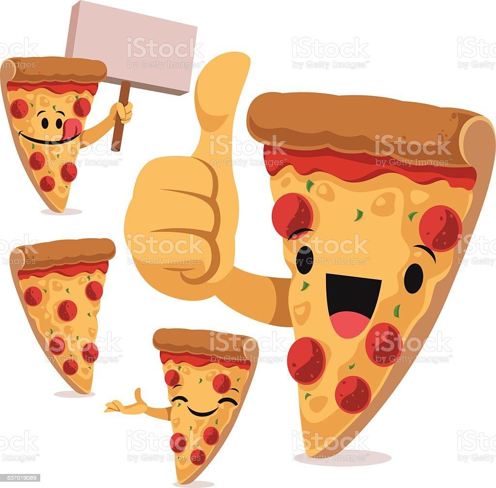 Pizza Cartoon Set C vector art illustration