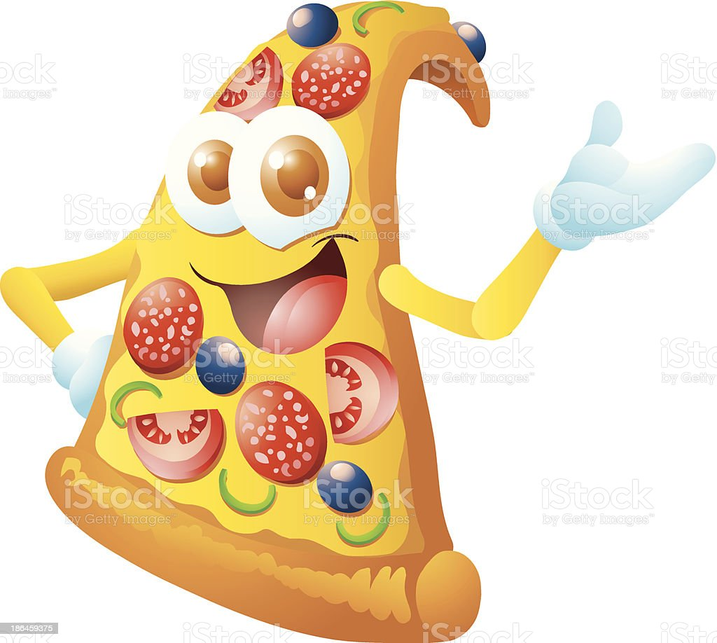 pizza cartoon royalty-free stock vector art