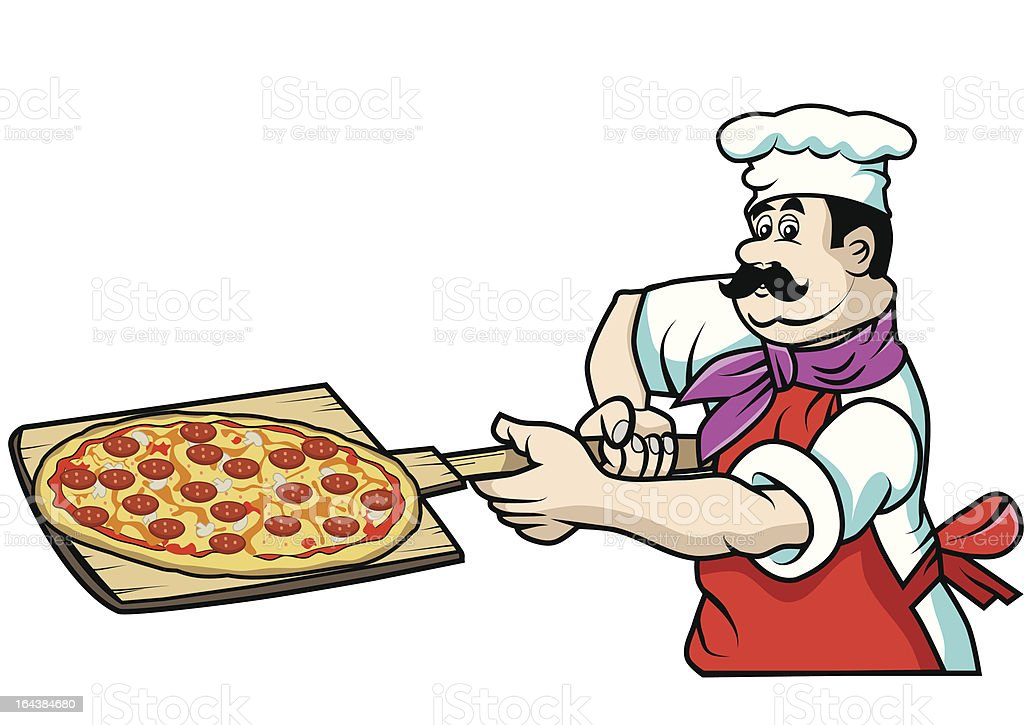 Pizza chef royalty-free stock vector art