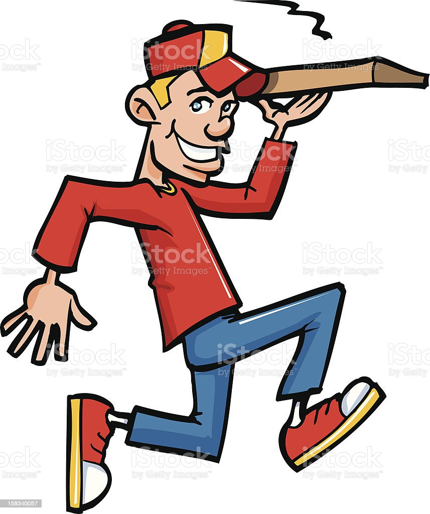 Pizza delivery boy royalty-free stock vector art