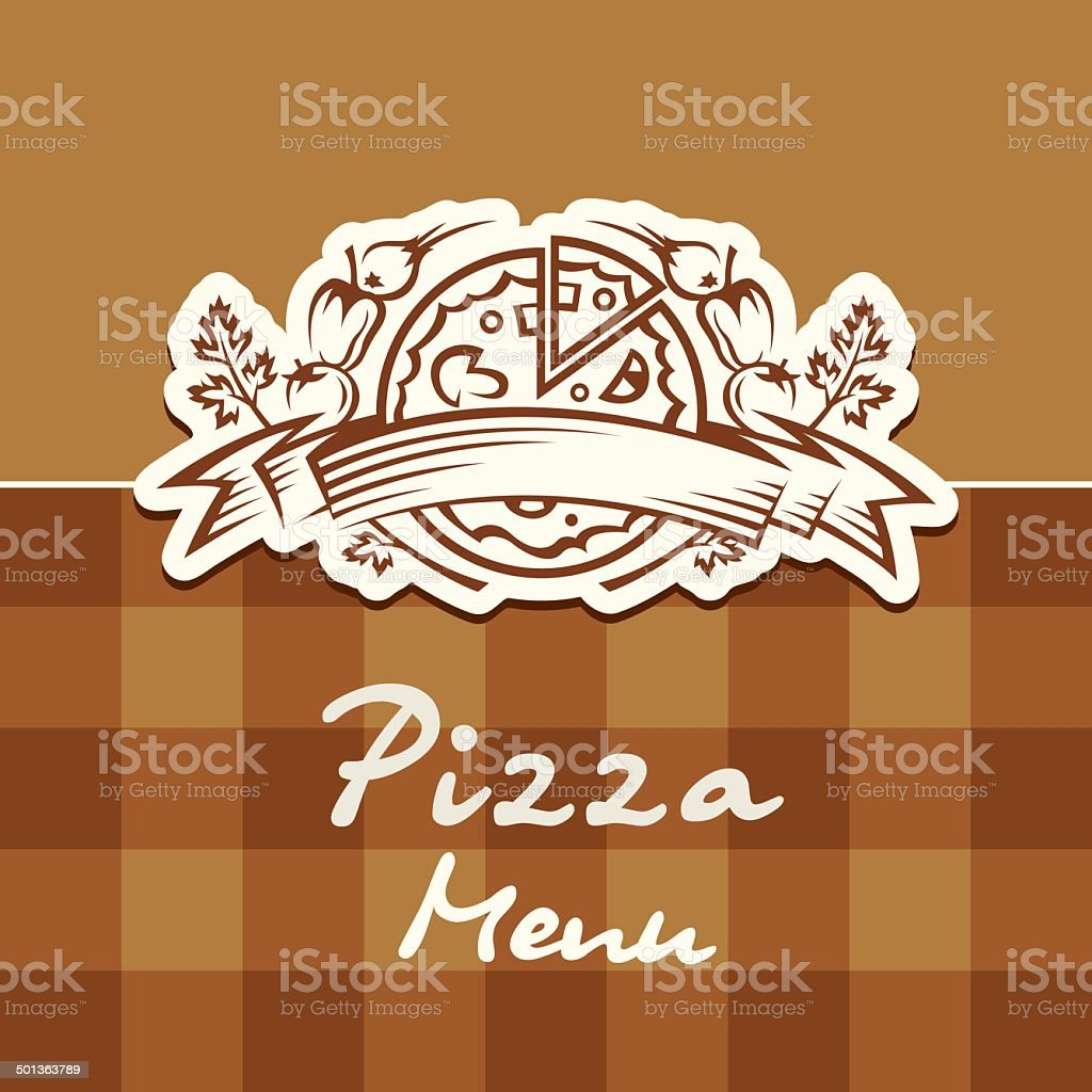 pizza design menu vector art illustration