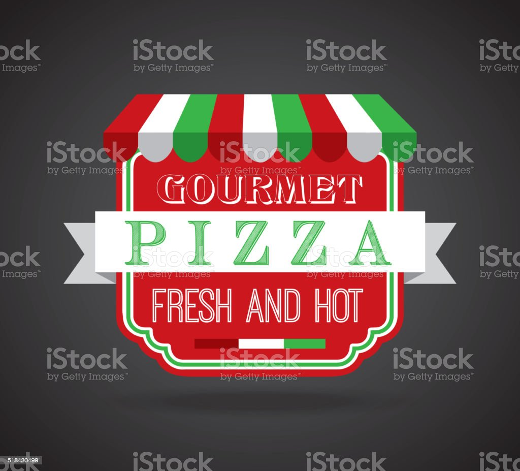 pizza design vector art illustration
