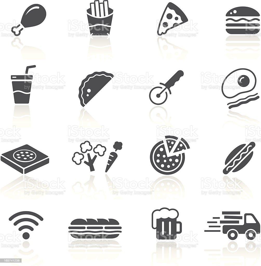 Pizza & Fast Food Restaurant vector art illustration