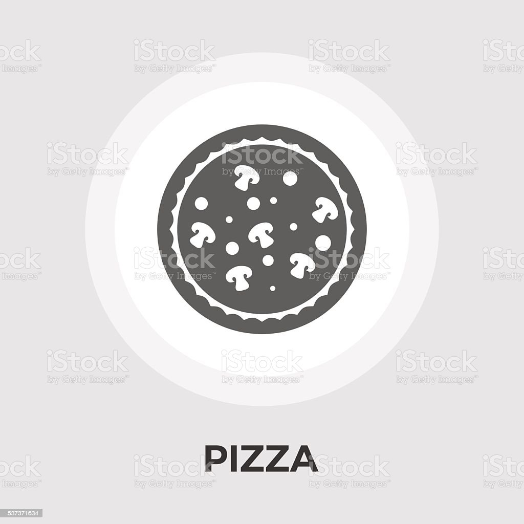 Pizza flat icon vector art illustration