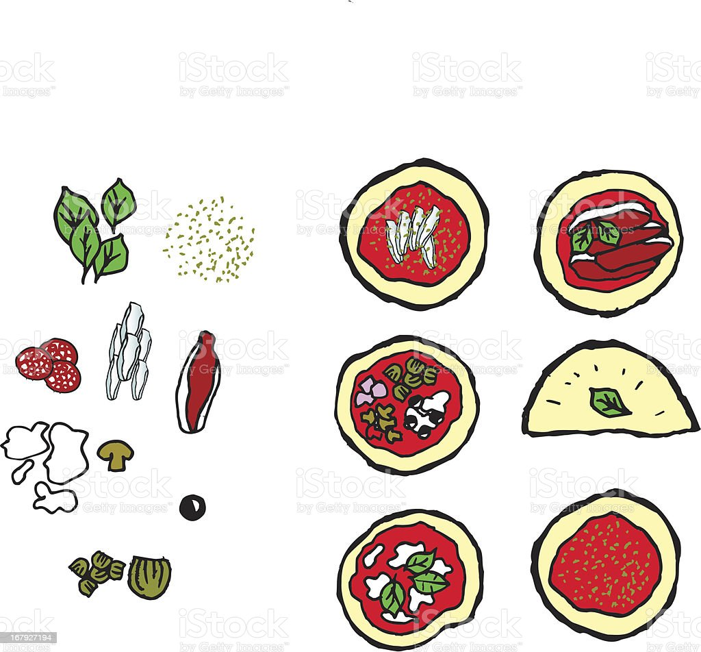 Pizza for a menu royalty-free stock vector art