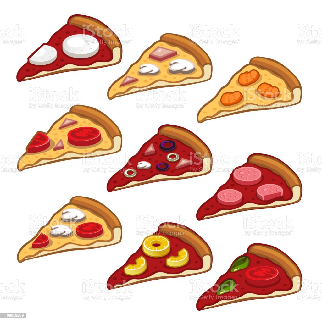 Pizza icon set royalty-free stock vector art