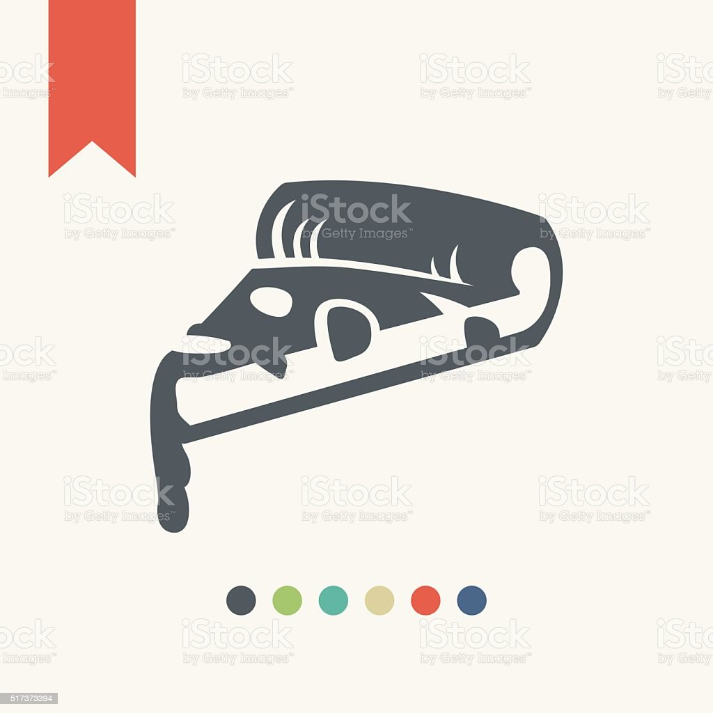 Pizza icon-fast food concept vector art illustration