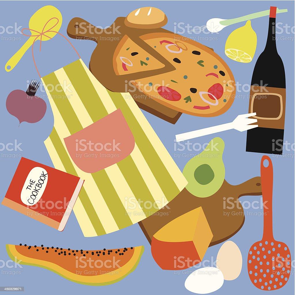 Pizza -italian food set royalty-free stock vector art