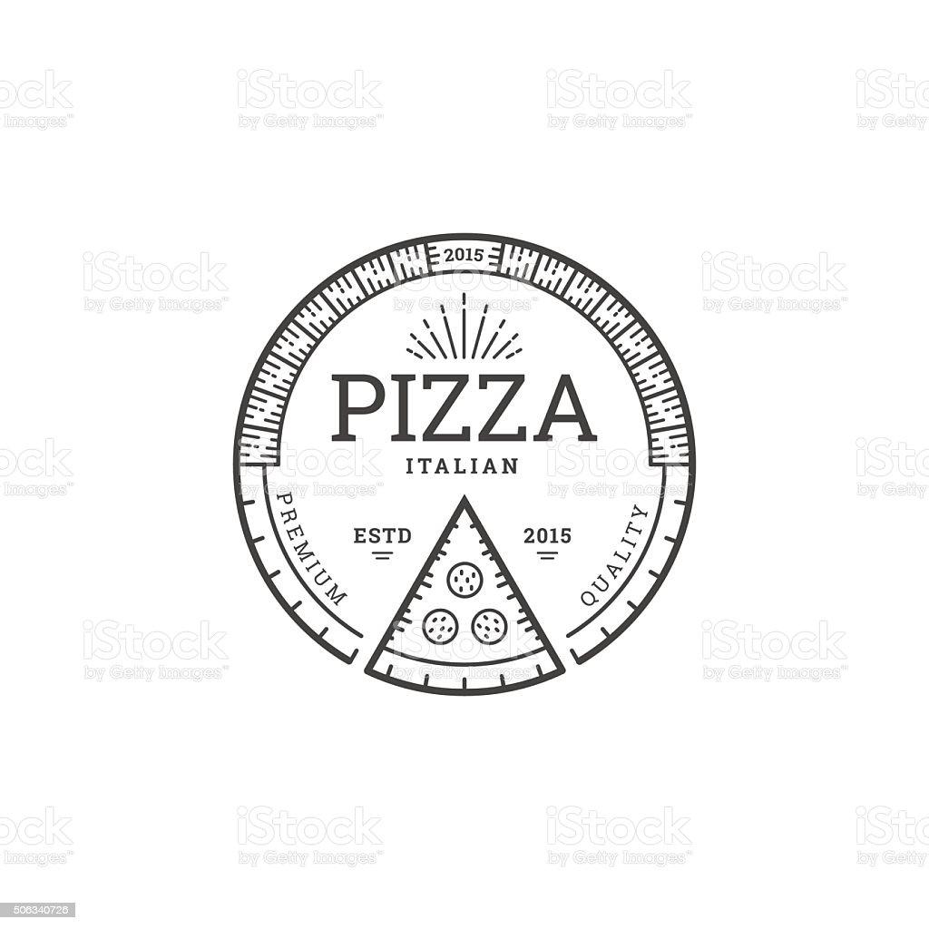 Pizza logo template vector art illustration