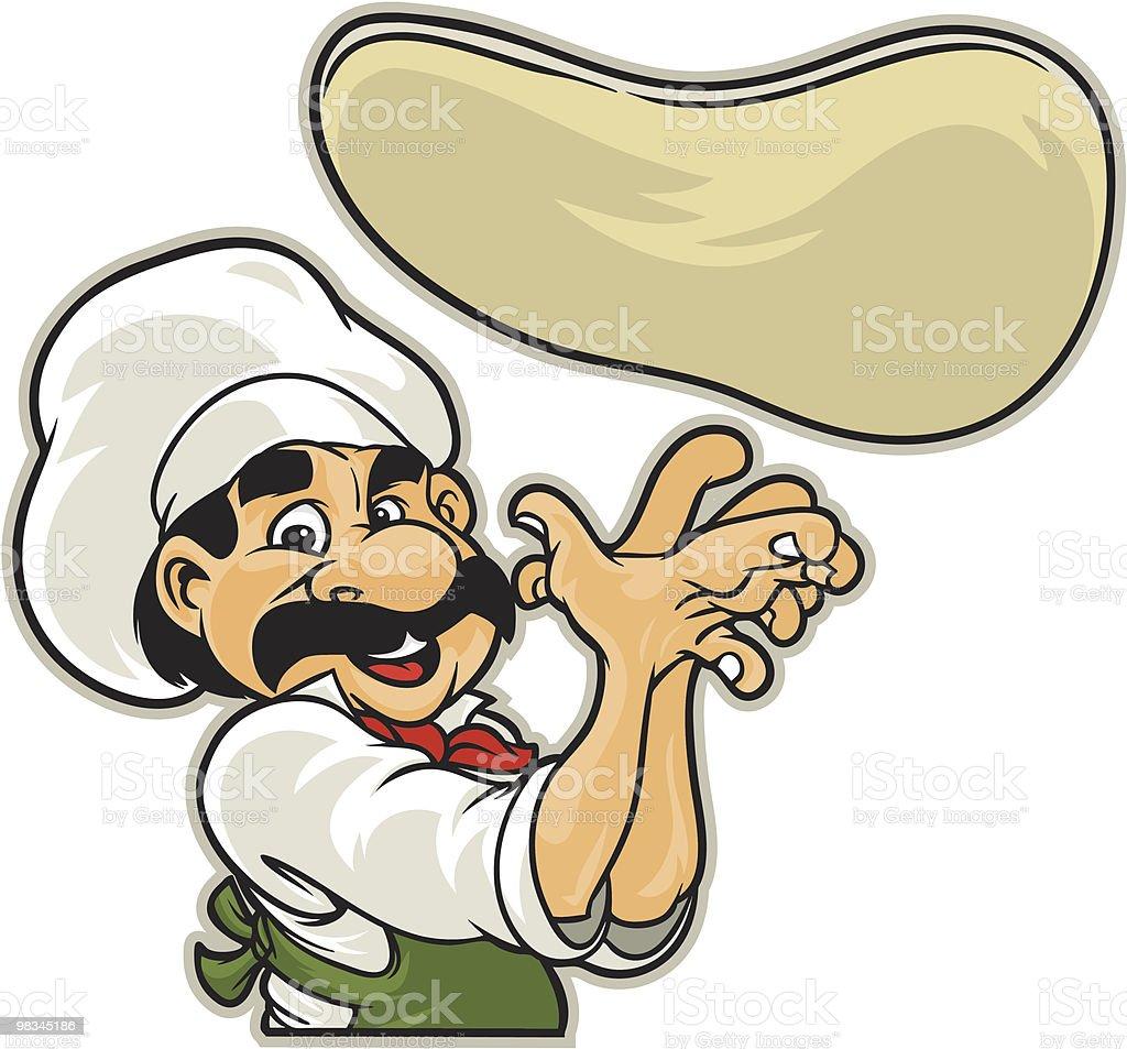 Pizza Man vector art illustration