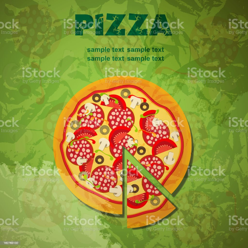 Pizza Menu Template, vector illustration royalty-free stock vector art