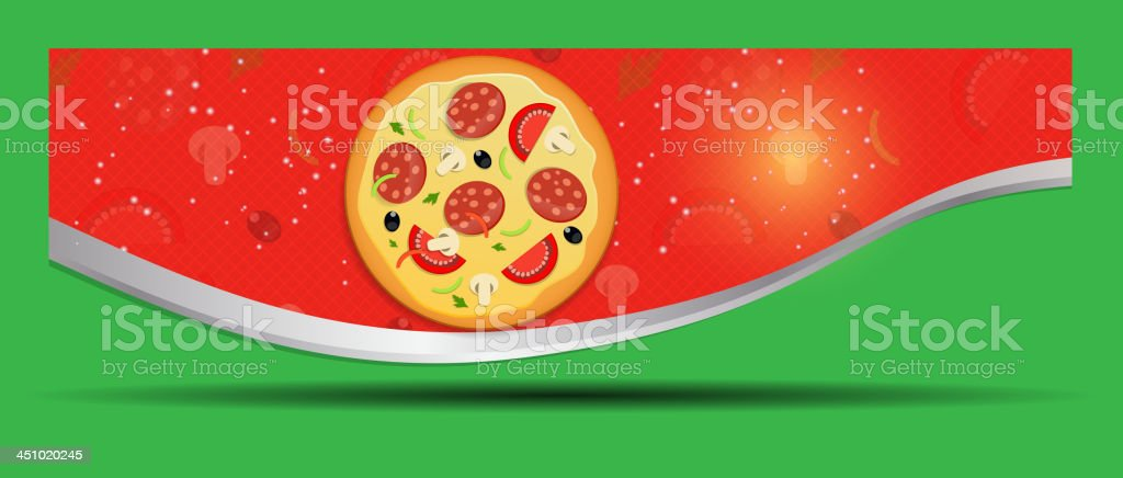 Pizza menu template vector illustration royalty-free stock vector art
