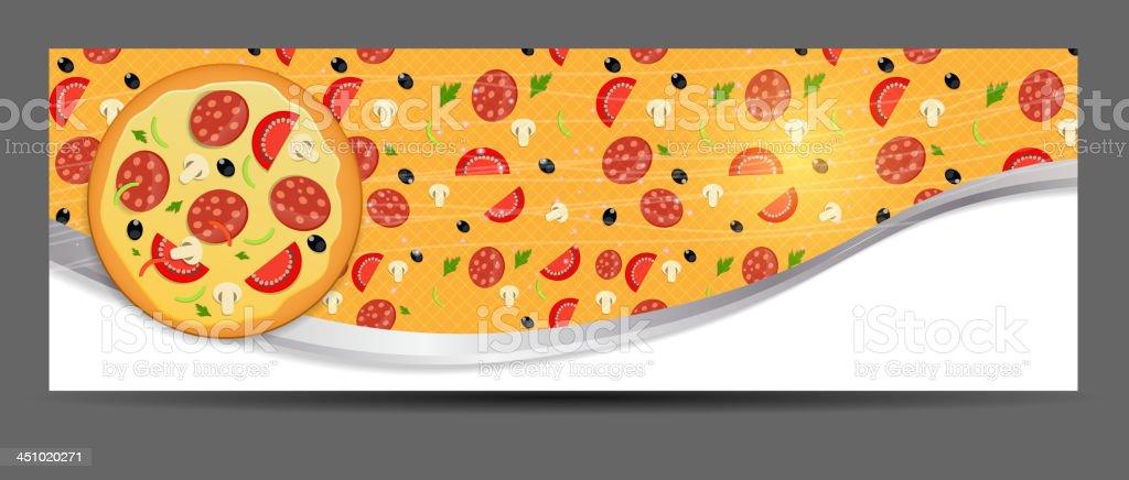 Pizza menu template vector illustration royalty-free stock vector art