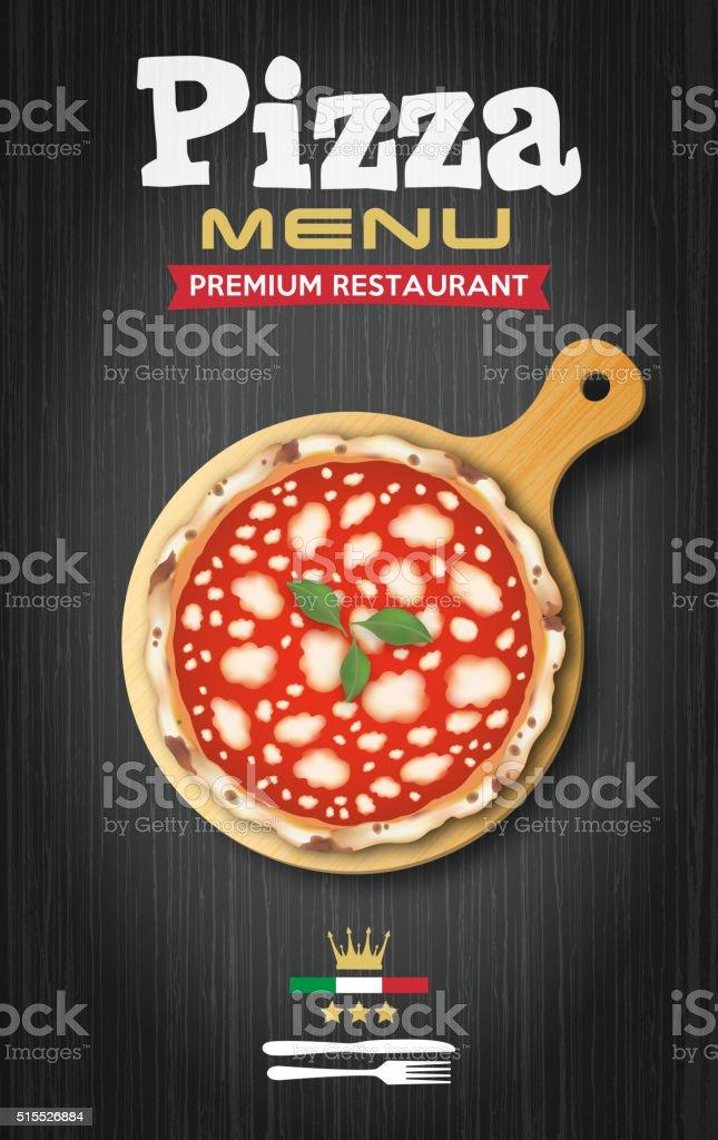 Pizza menu vector vector art illustration