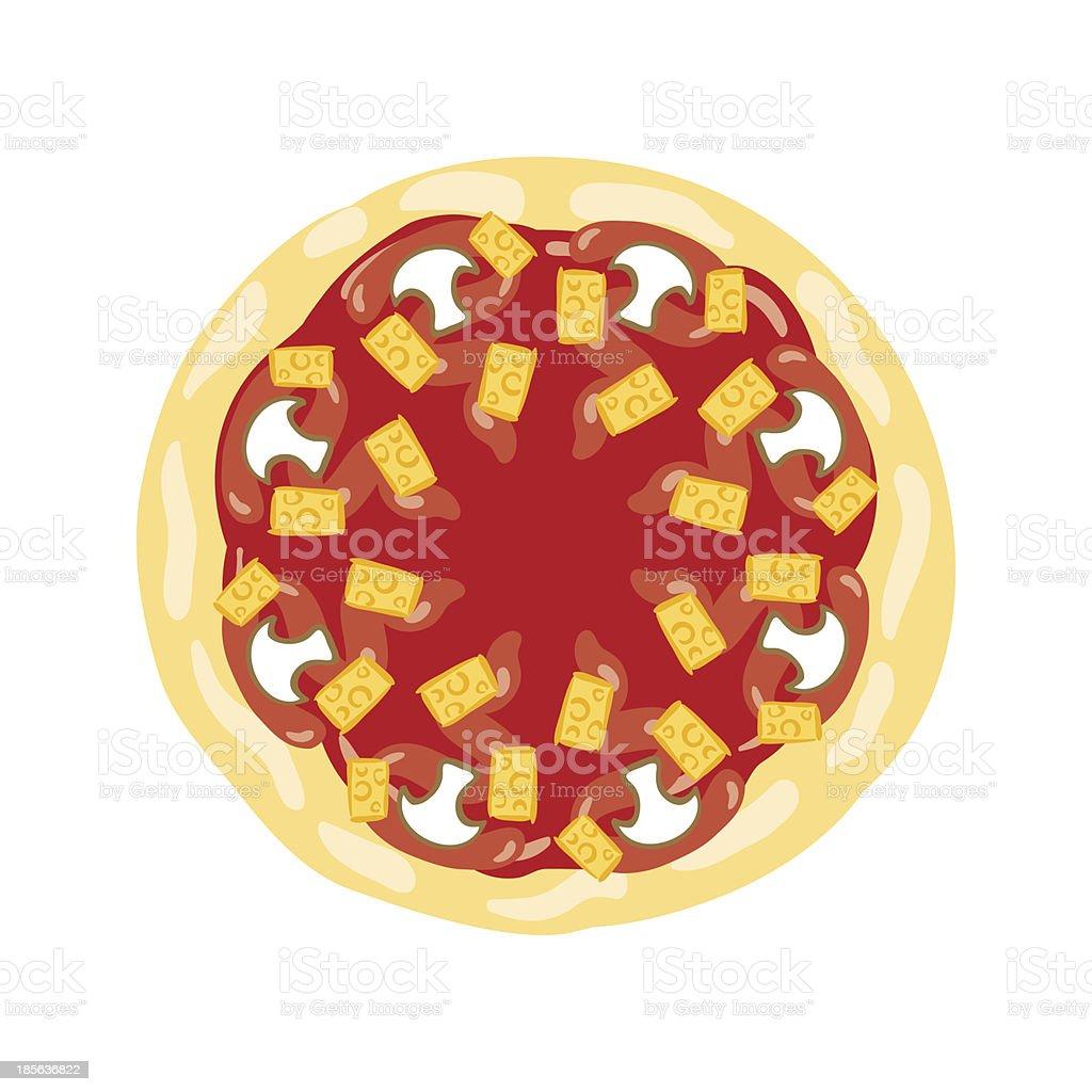 Pizza Mushroom royalty-free stock vector art