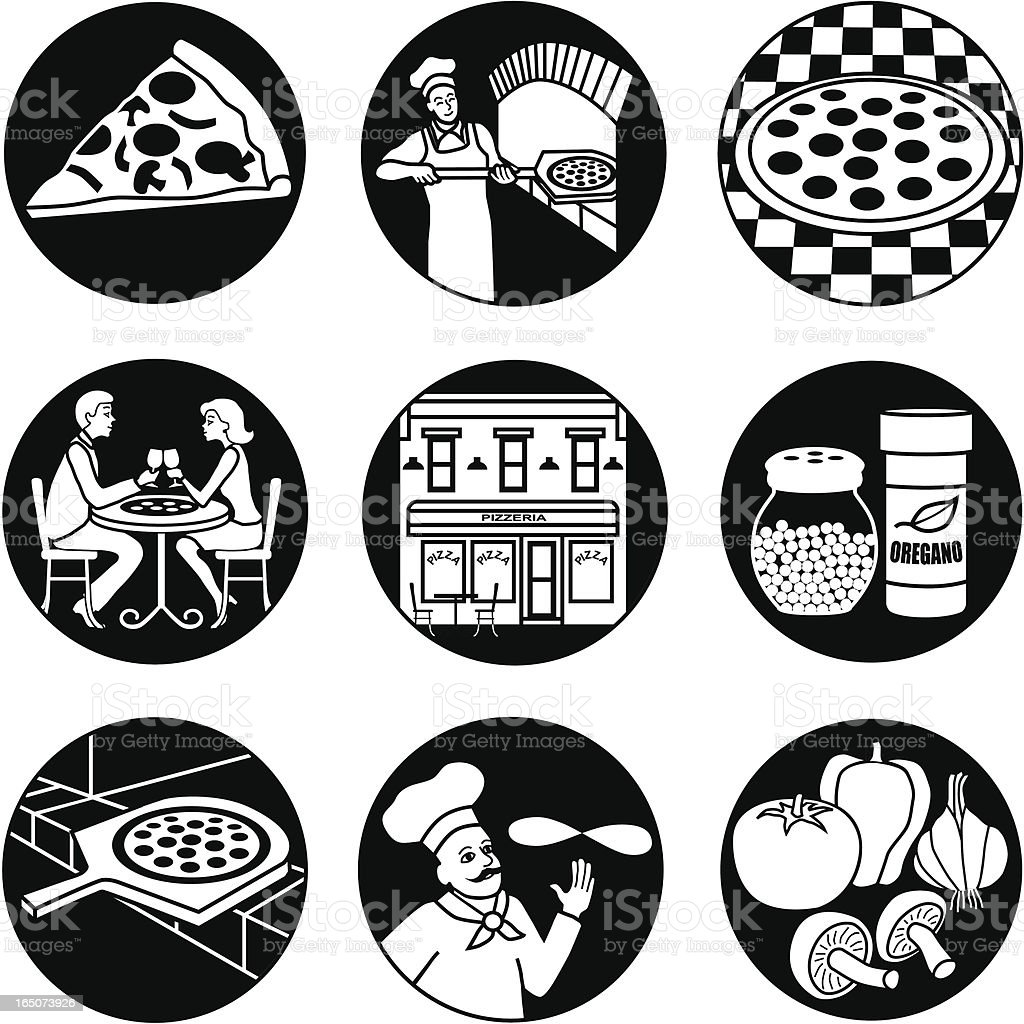 pizza parlor reversed royalty-free stock vector art