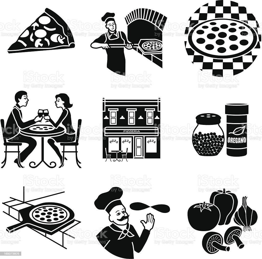 pizza parlor royalty-free stock vector art