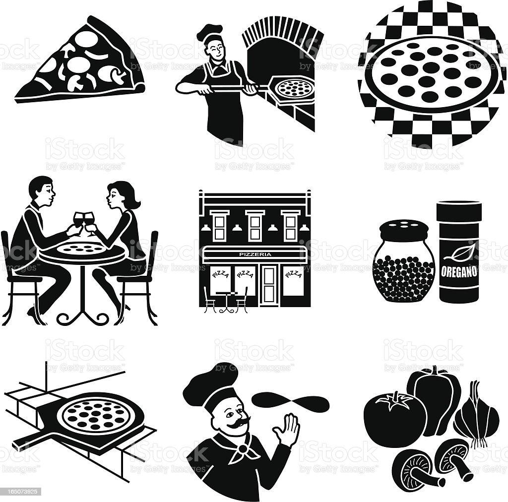 pizza parlor vector art illustration