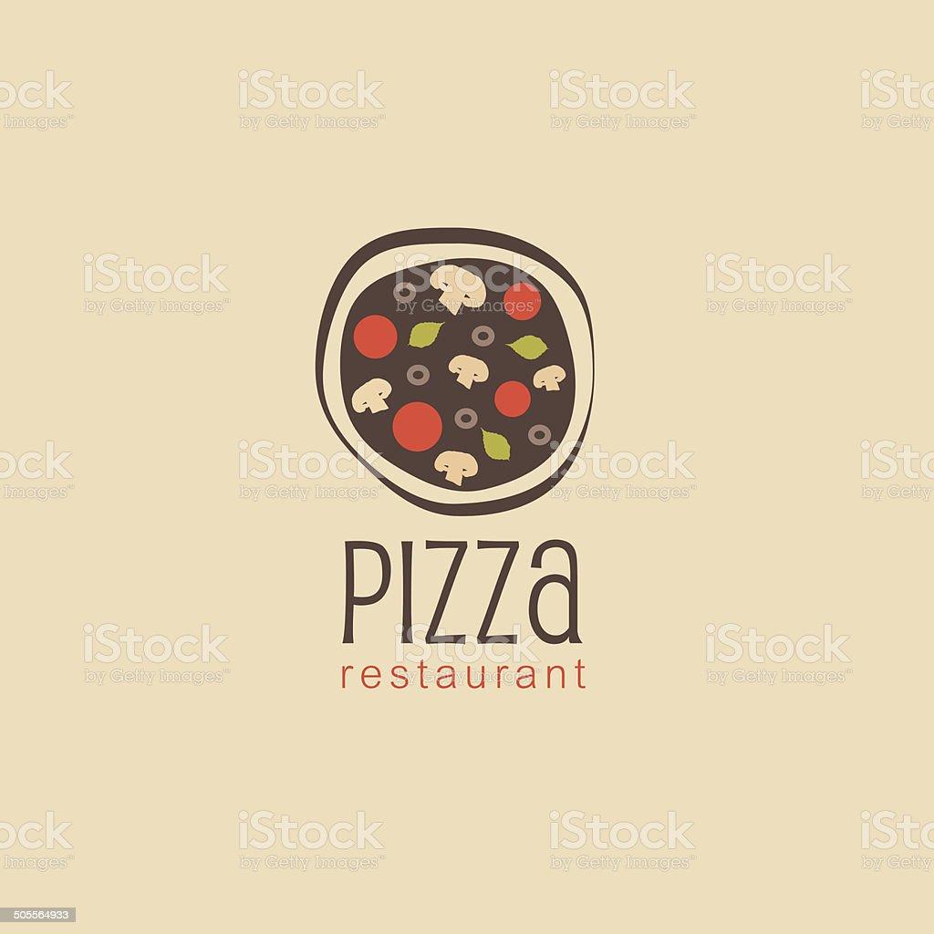 pizza restaurant design element for business vector art illustration