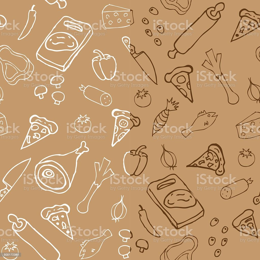 Pizza seamless pattern royalty-free stock vector art