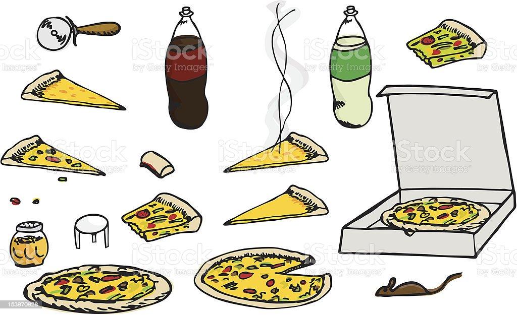 Pizza Set royalty-free stock vector art