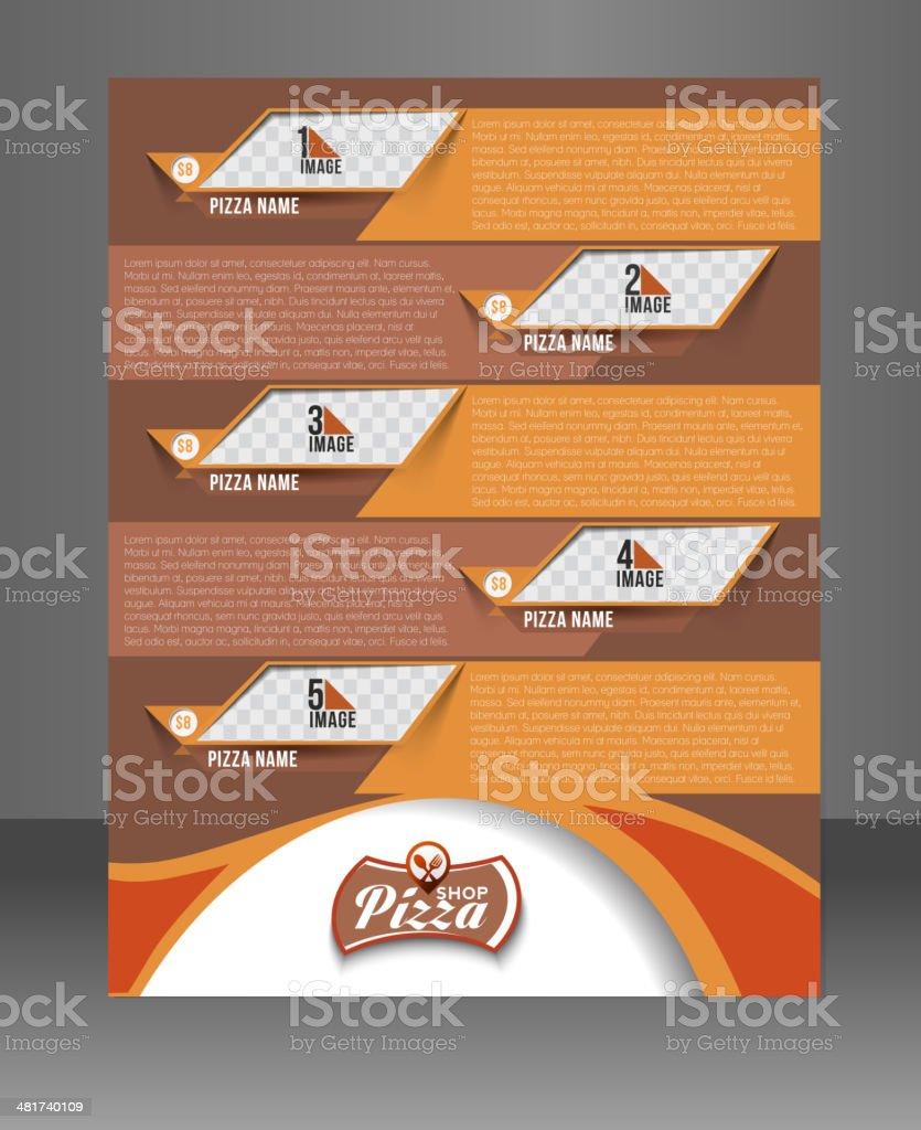 Pizza Shop Flyer vector art illustration