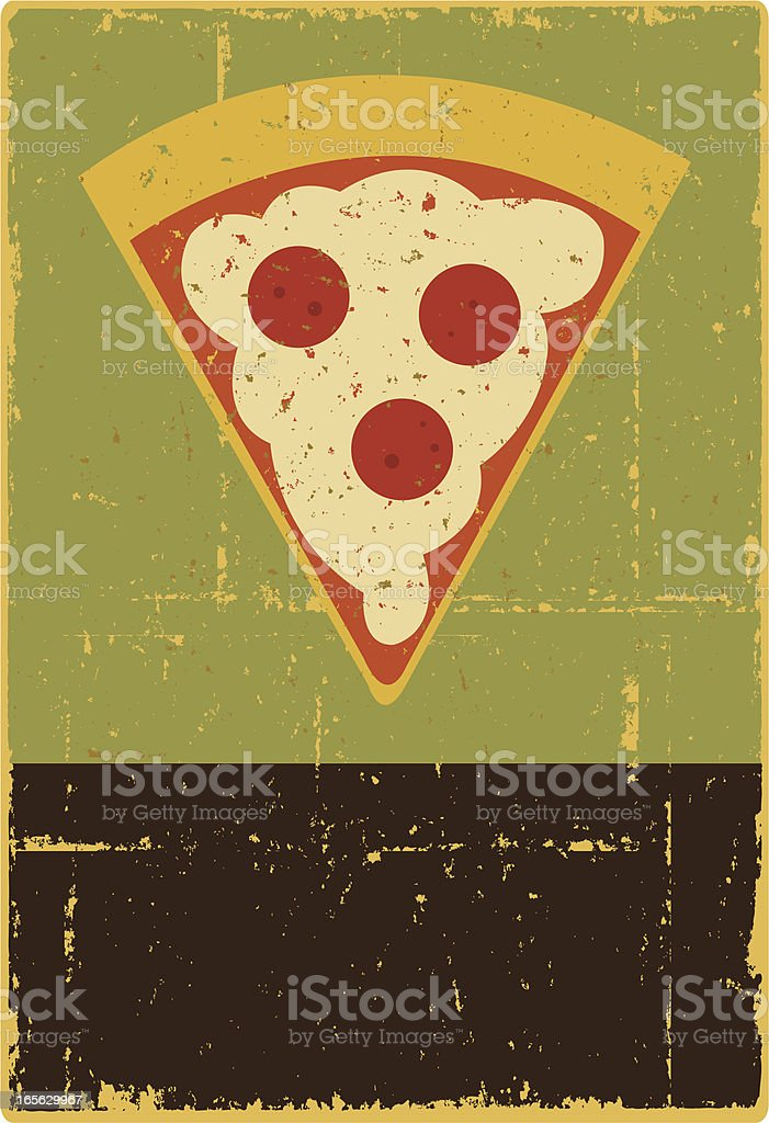 Pizza Sign royalty-free stock vector art